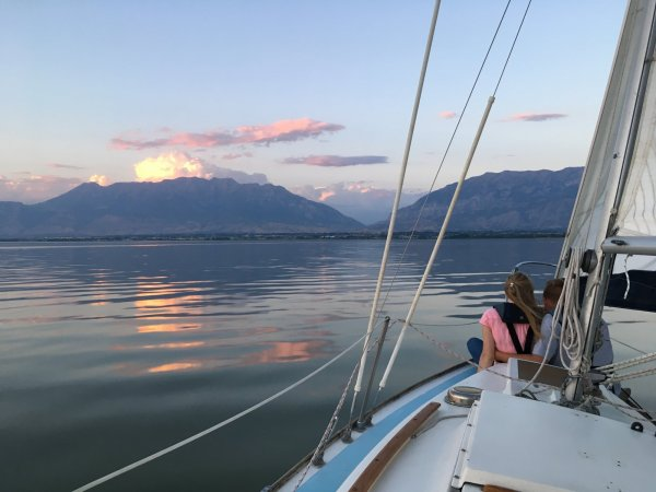 utah lake sunset cruise