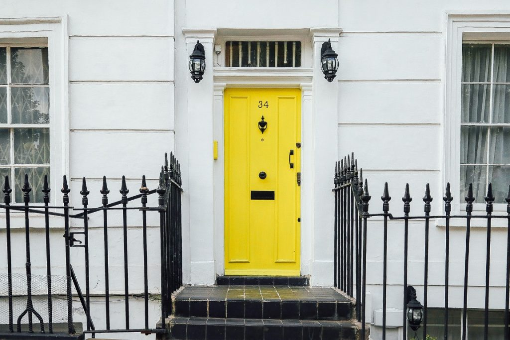 Doorstep with Yellow Door
