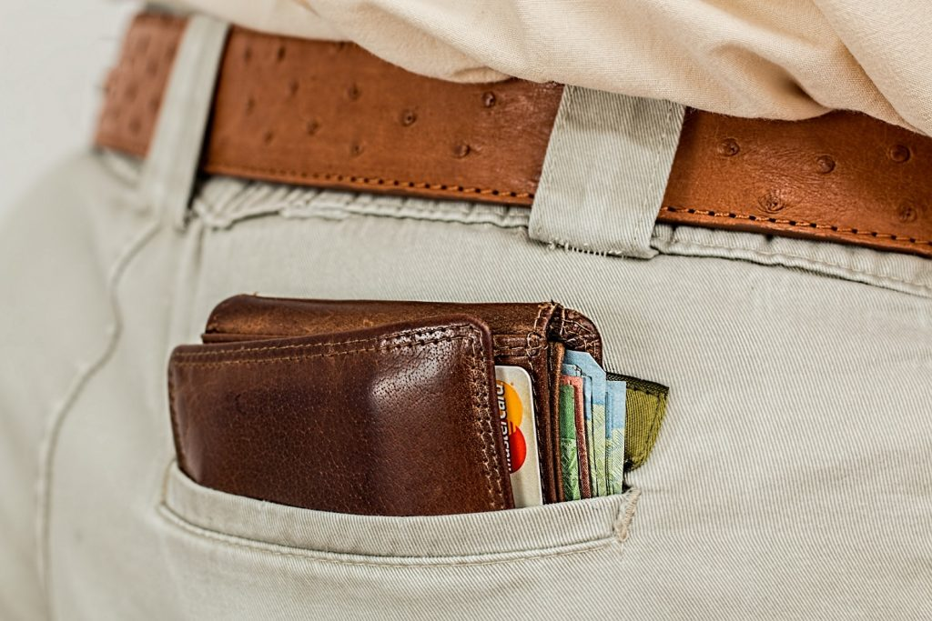 Wallet With Cash and Cards